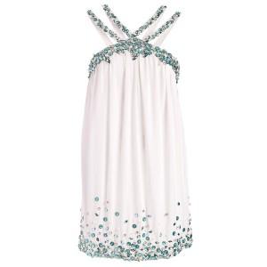 Chiffon-Kleid mit Pailletten